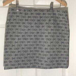 EUC Fendi Fendissime monogram  Skirt Size 12US